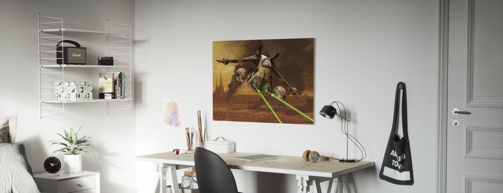 Star Wars - Republik angreb kanonskibe - Billede på lærred - Børneværelse