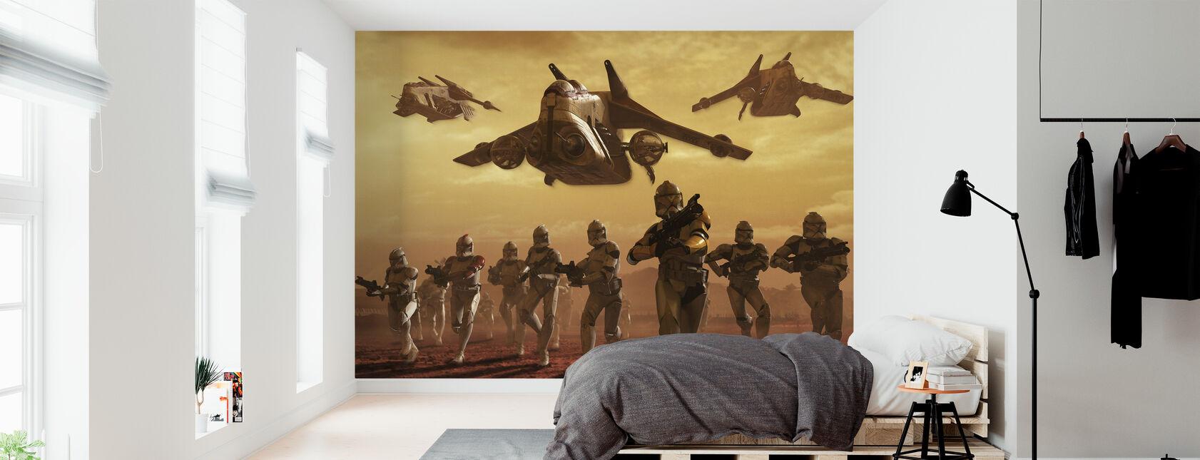 Star Wars - Klon Troopers på Geonosis - Tapet - Sovrum