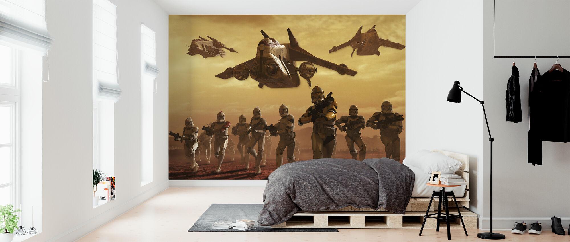 Star Wars - Klon troopers på geonose - Tapet - Soveværelse