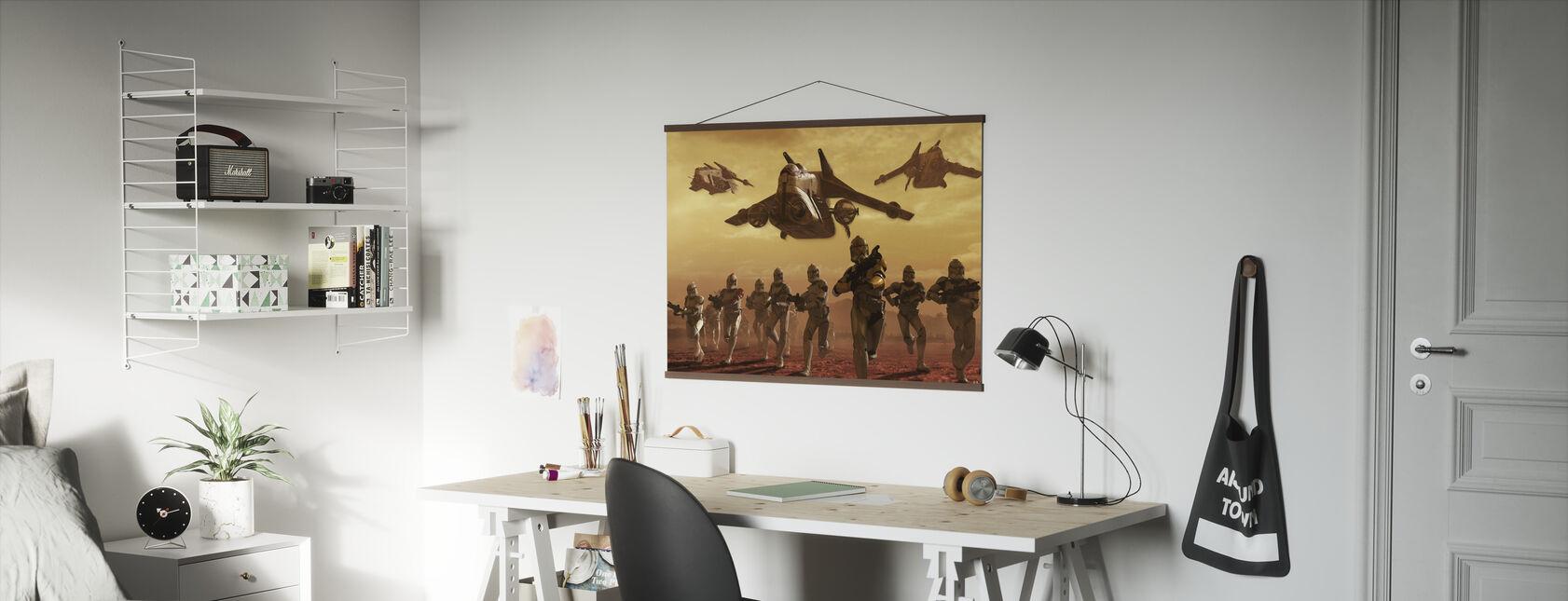 Star Wars - Klone Troopers på Geonosis - Plakat - Kontor