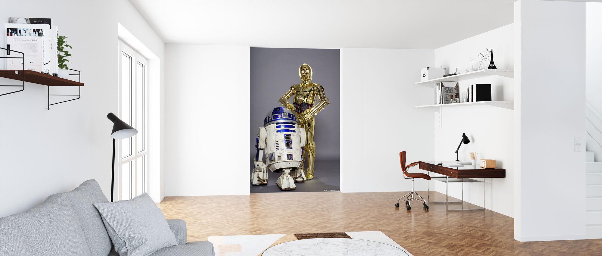 Star Wars - R2-D2 og C-3PO Studioshoot - Tapet - Kontor