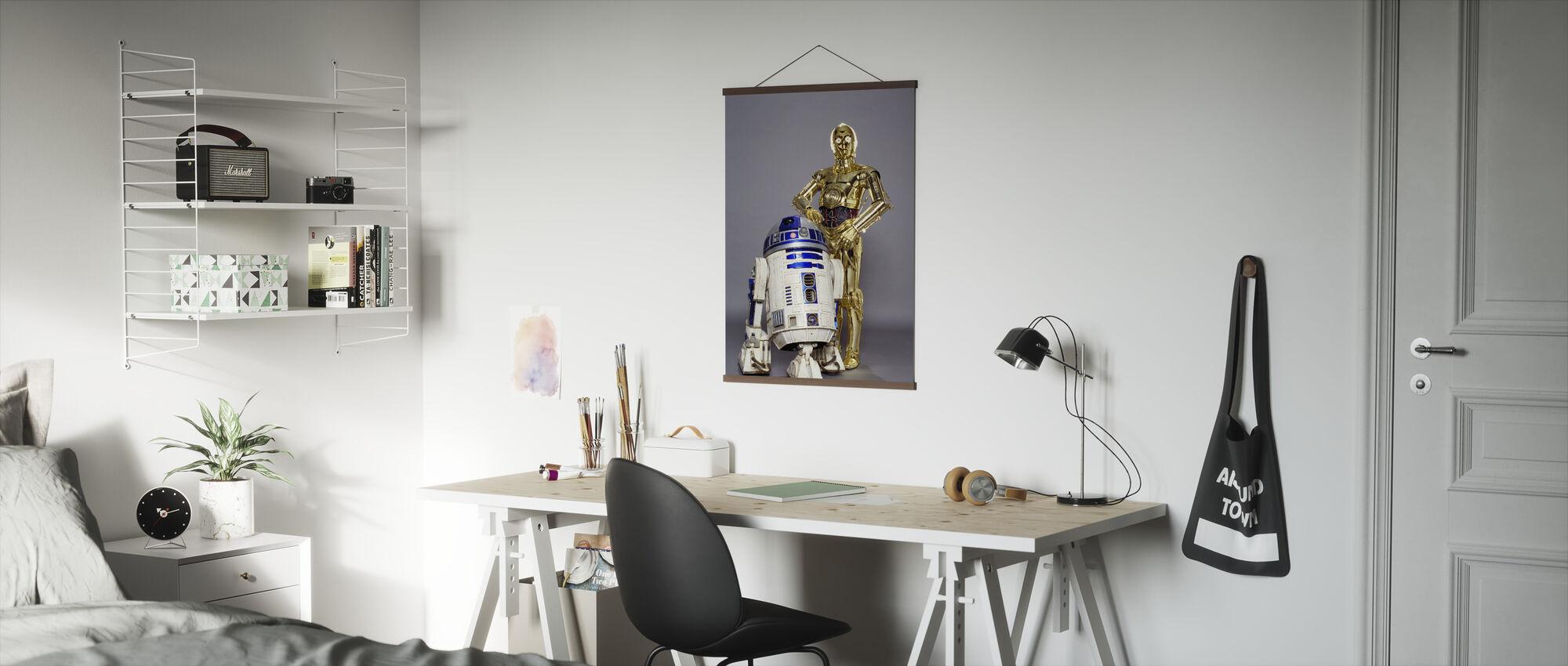 Star Wars - R2-D2 och C-3PO Studioshoot - Poster - Kontor