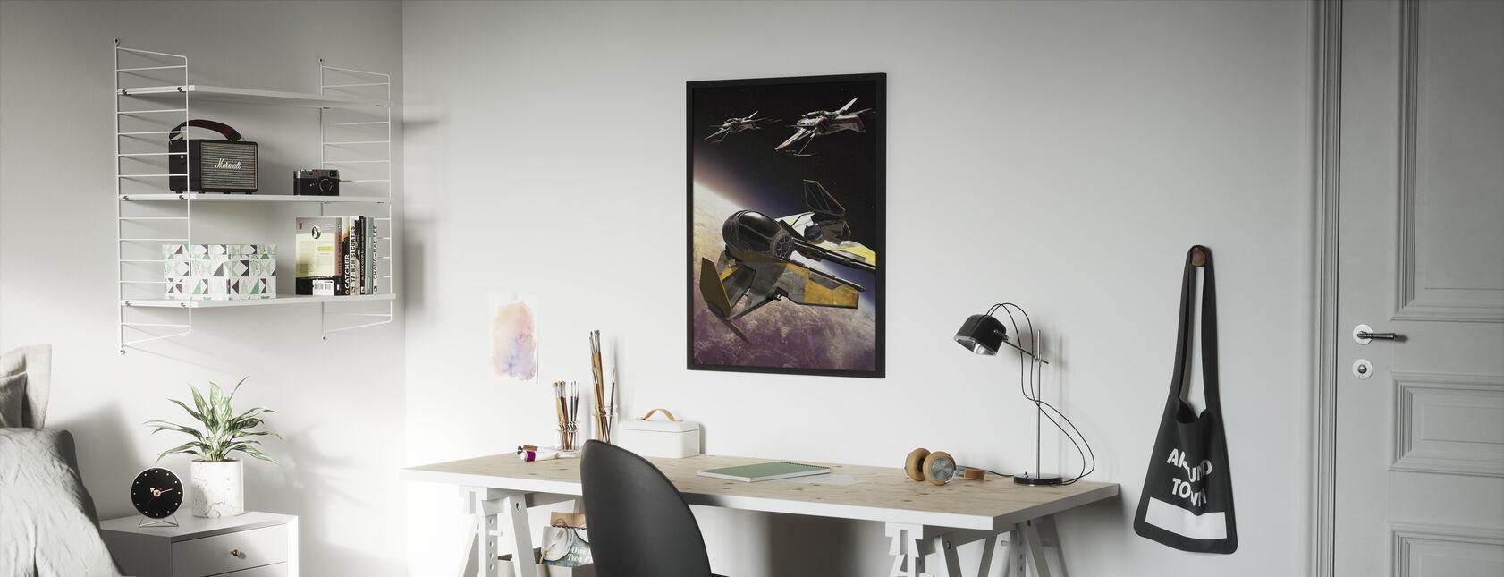 Star Wars - ARC-170 klone Starfighters - Innrammet bilde - Barnerom