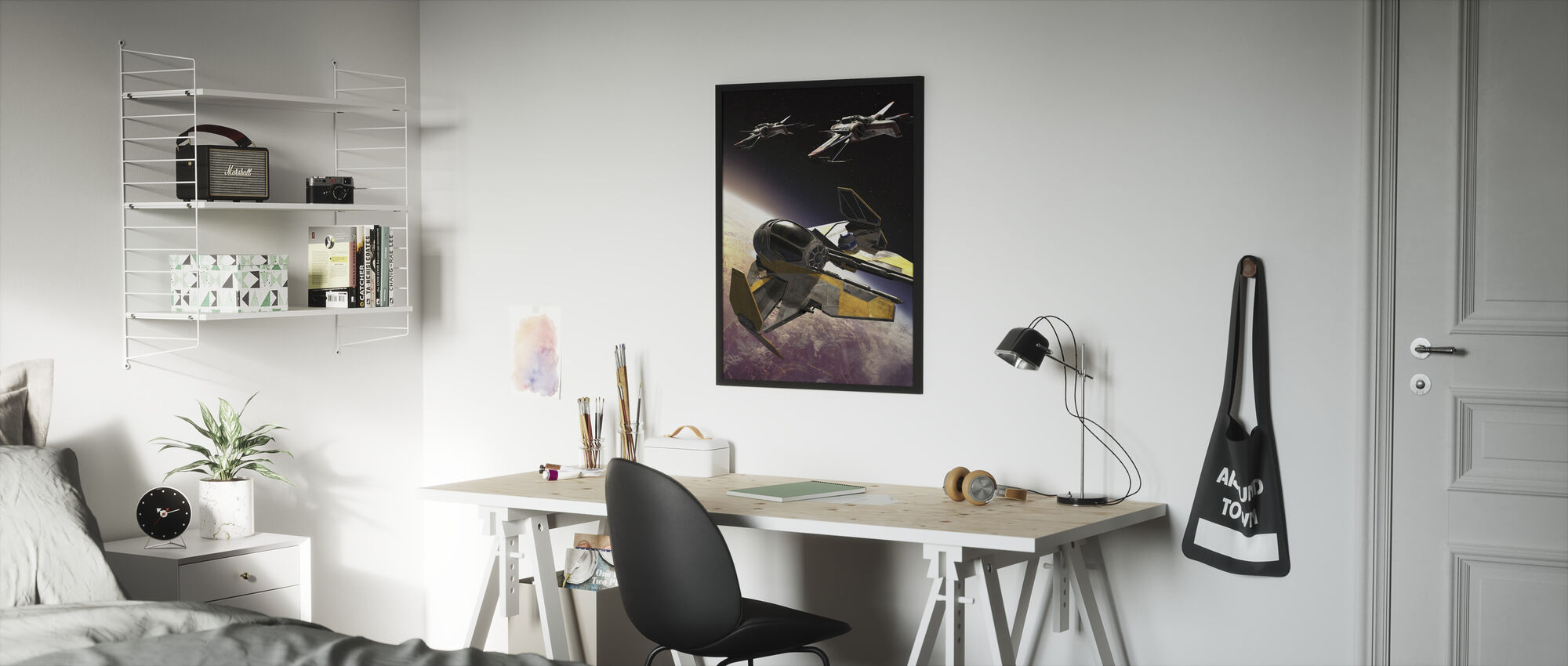 Tähtien sota - ARC-170 Klooni Starfighters - Kehystetty kuva - Lastenhuone