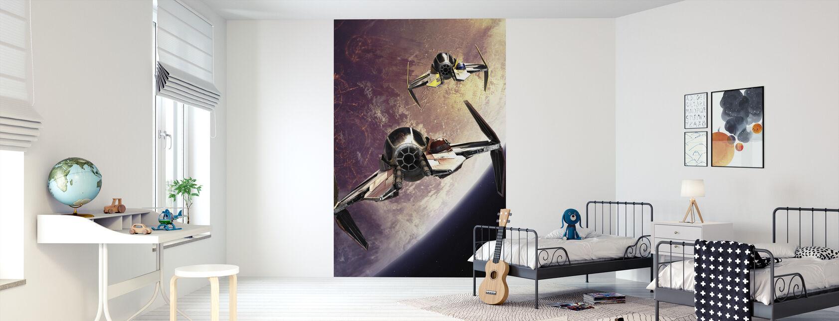 Star Wars - Starfighters över Planeter 2 - Tapet - Barnrum