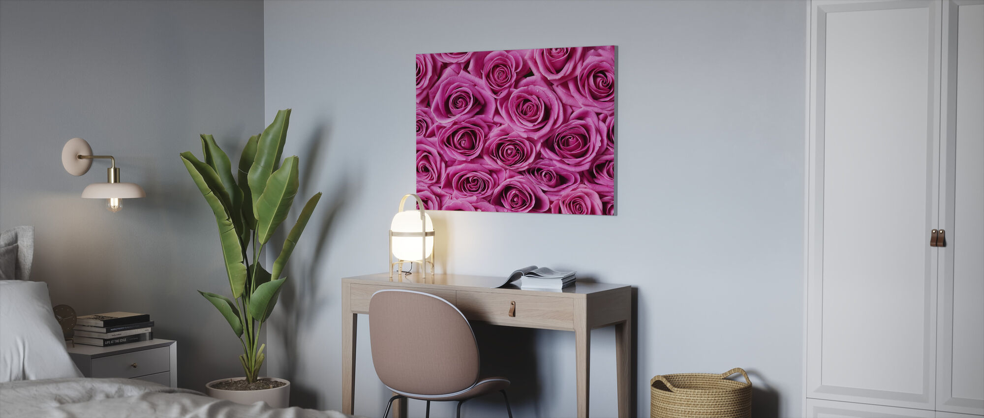 Roses - Pink - Canvas print - Office