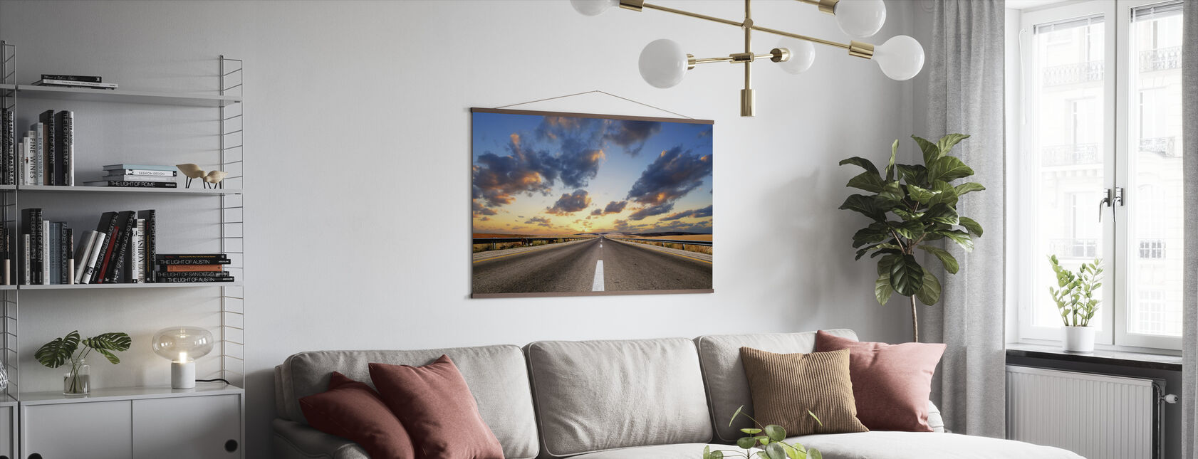Road under Dramatic Sky - Poster - Living Room