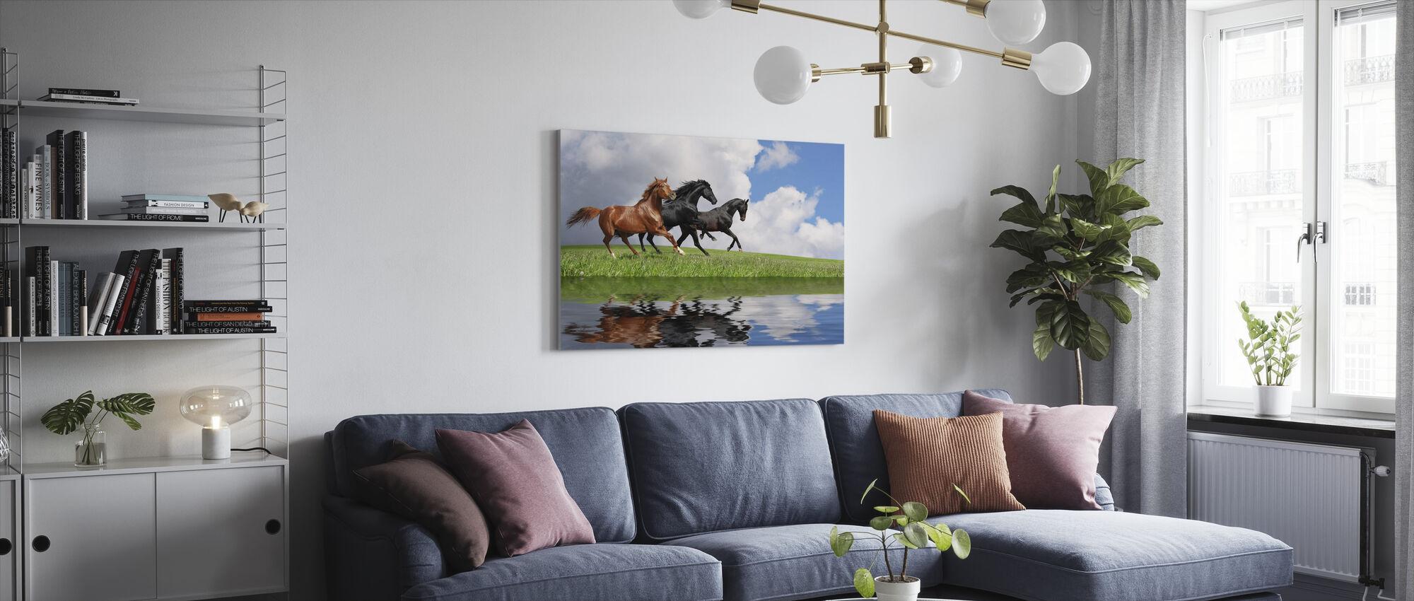 Gallop Horses - Canvas print - Living Room