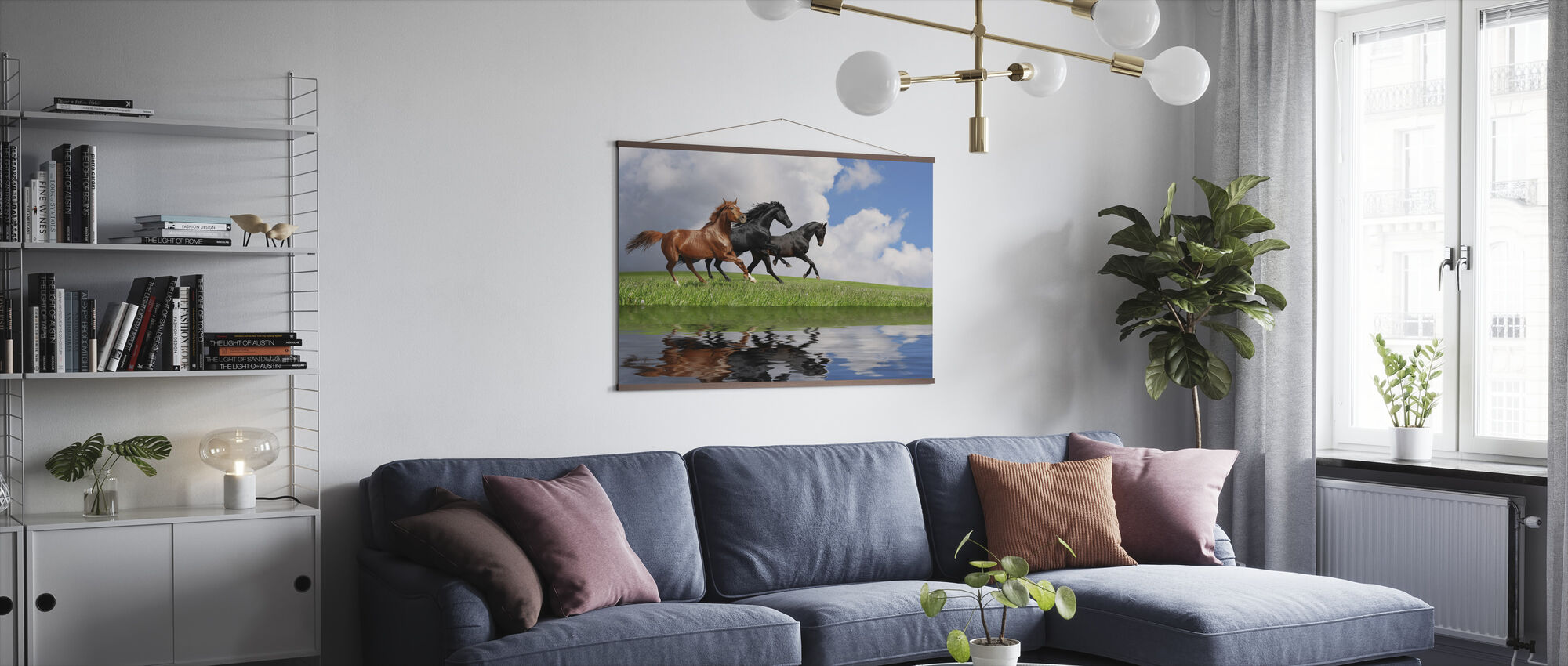 Gallop Horses - Poster - Living Room