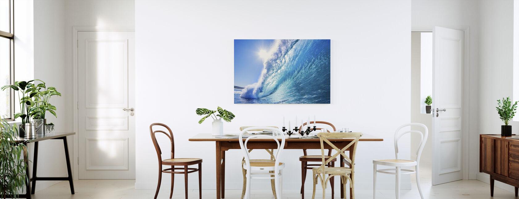 Big Blue Surfing Wave - Canvas print - Kitchen