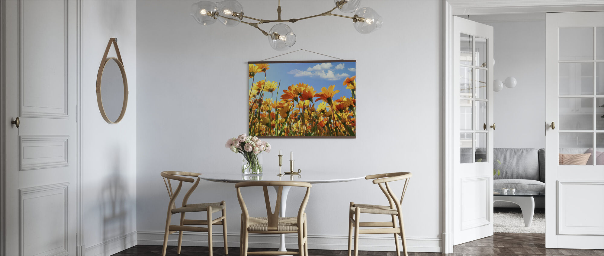 Spring Orange and Yellow Wildflowers - Poster - Kitchen
