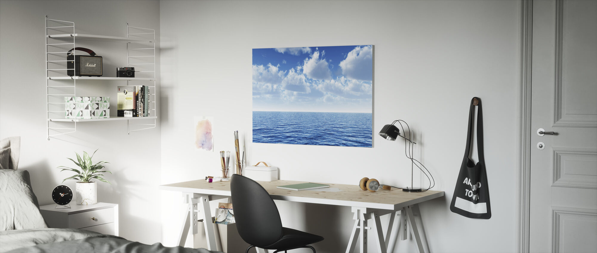 Cloudy Blue Sky Horizon - Canvas print - Kids Room