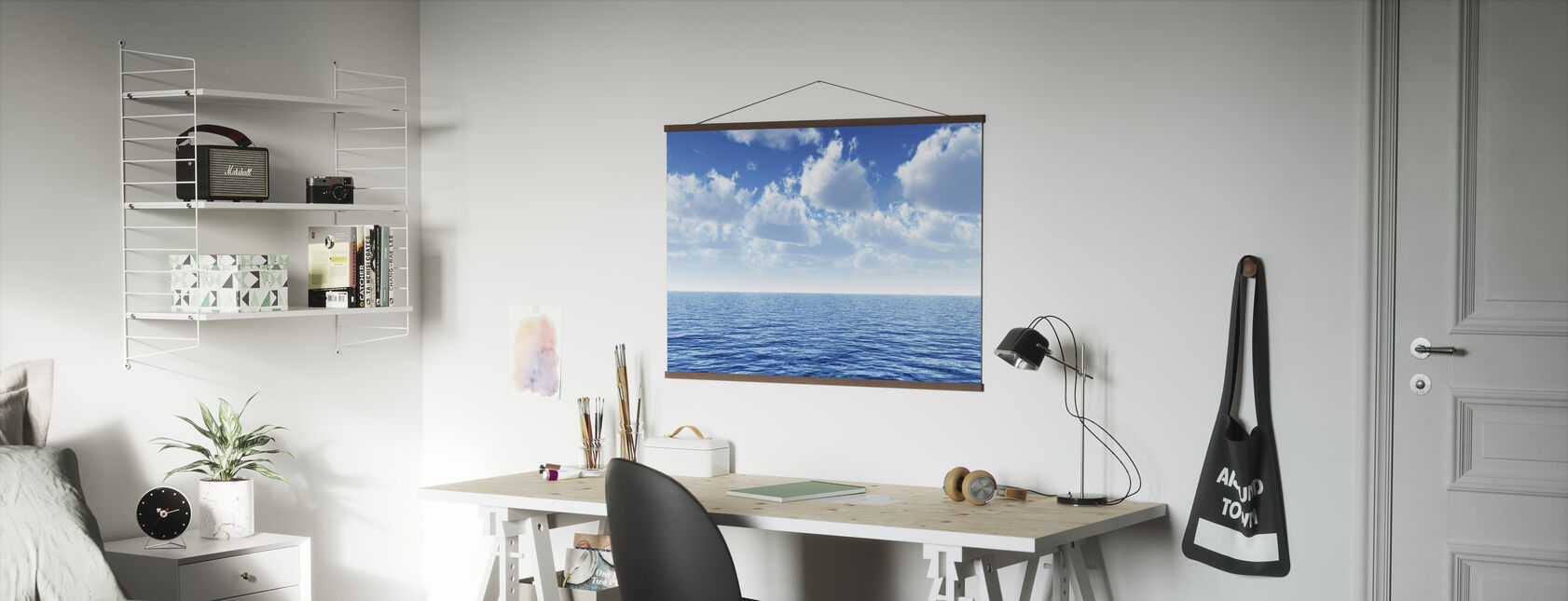 Cloudy Blue Sky Horizon - Poster - Office