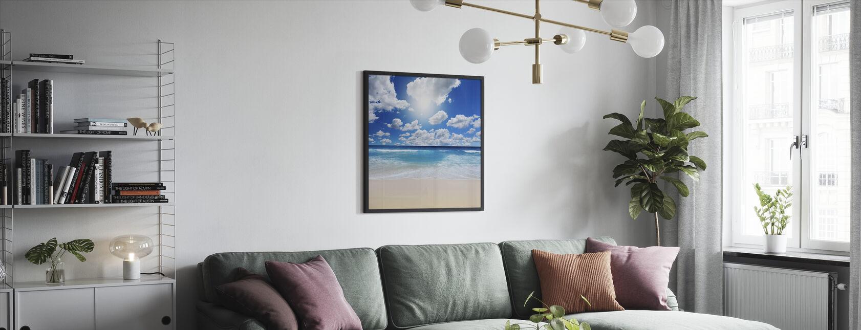 Kesäisin rannalla - Kehystetty kuva - Olohuone