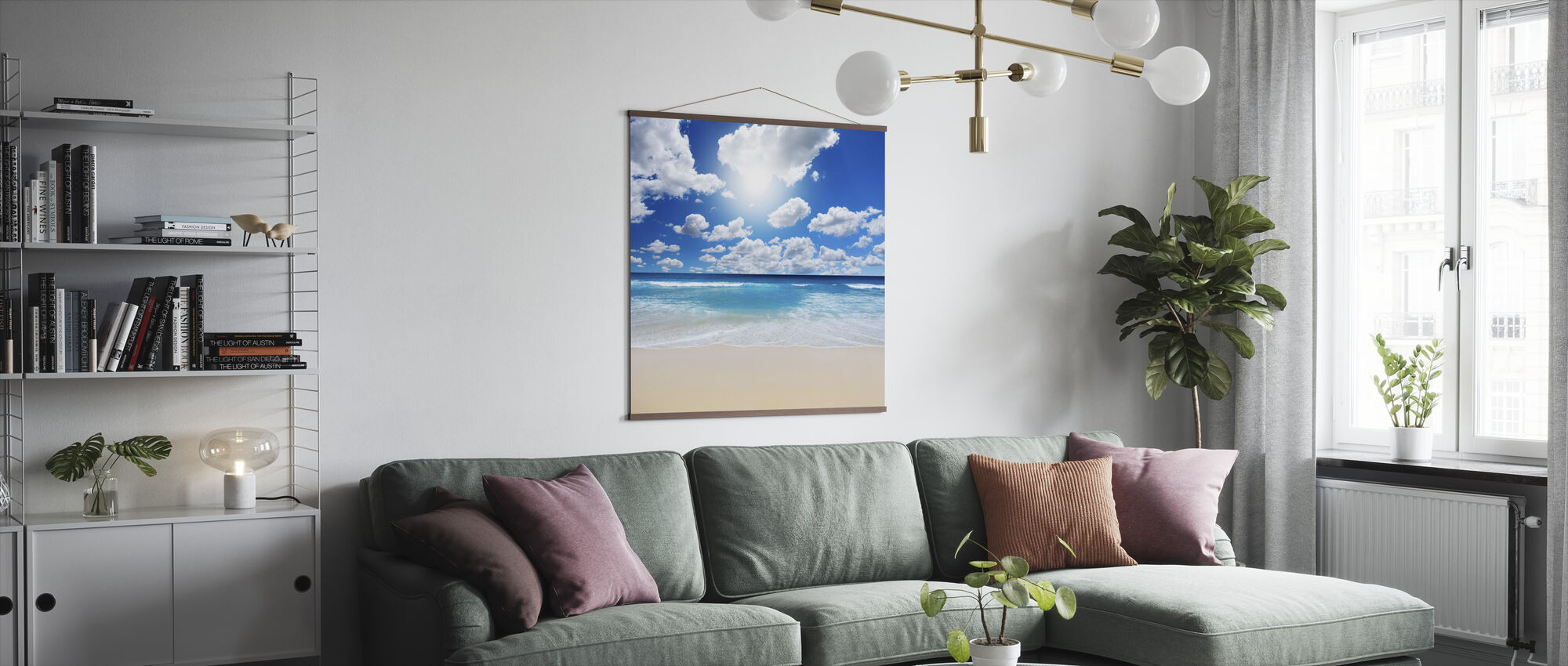 Summertime at the Beach - Poster - Living Room