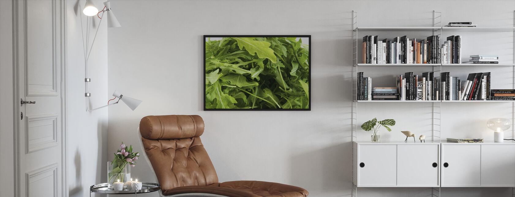 Frische Ruccola - Gerahmtes bild - Wohnzimmer