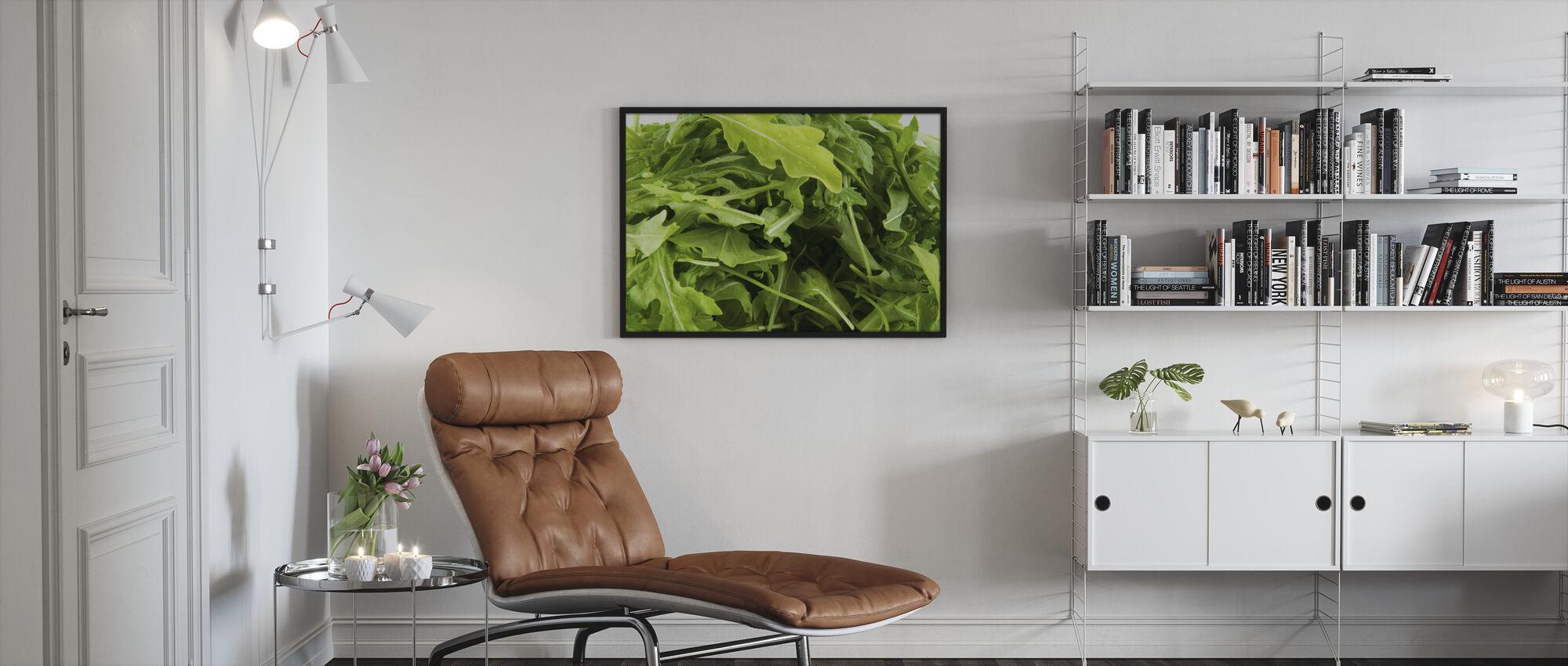 Tuore ruccola - Kehystetty kuva - Olohuone