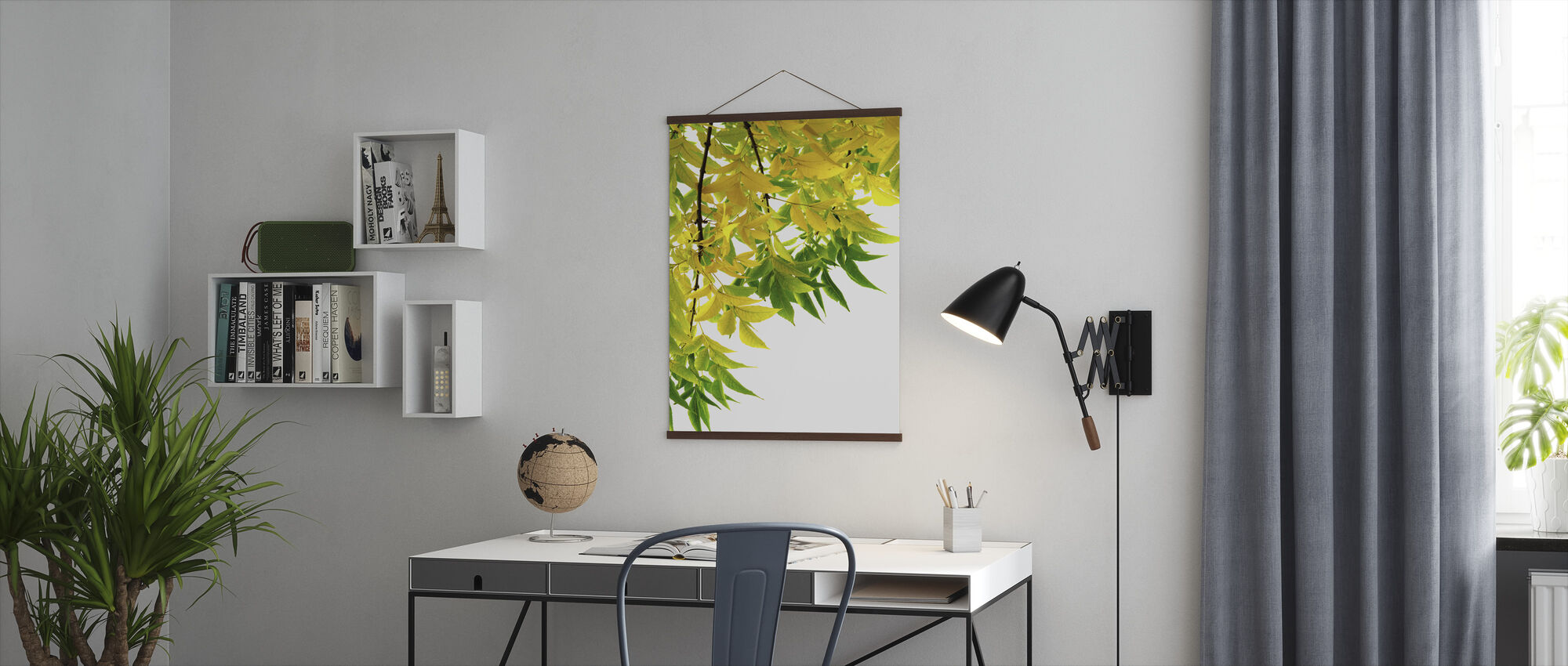 Green and Yellow Leaf - Poster - Office