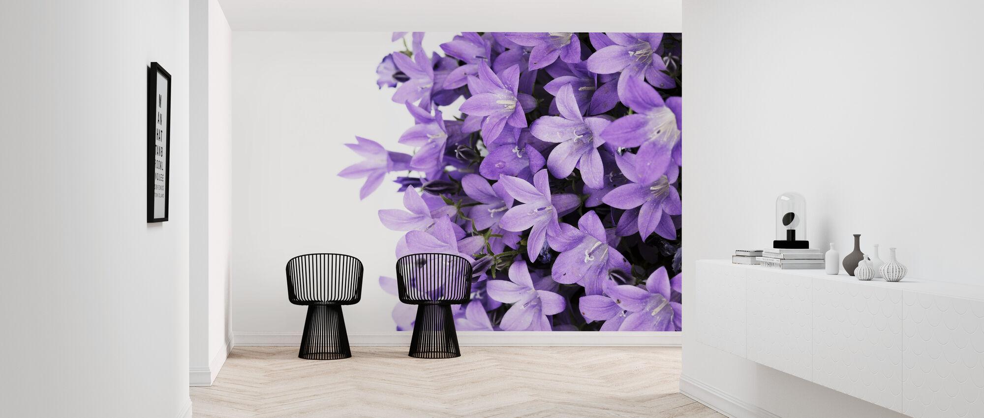 Purple Flowers - Wallpaper - Hallway