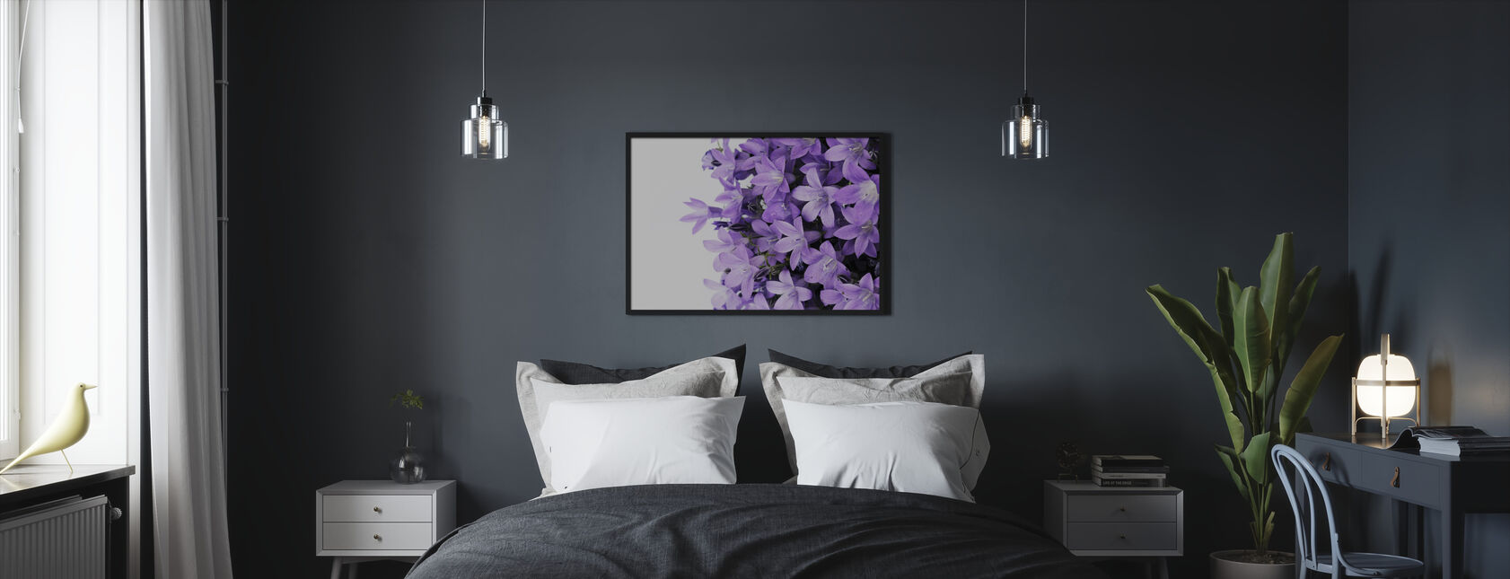 Purple Flowers - Framed print - Bedroom