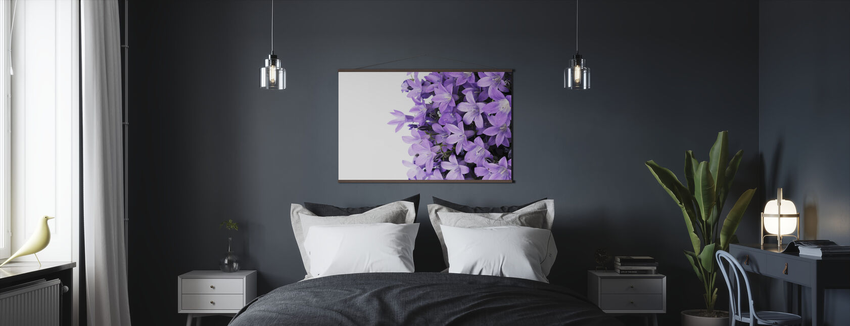 Purple Flowers - Poster - Bedroom