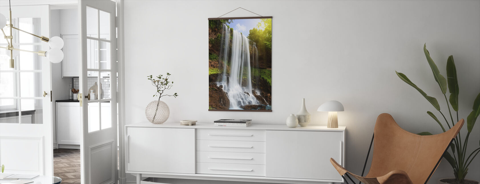 Waterfall in Rain Forest - Poster - Living Room