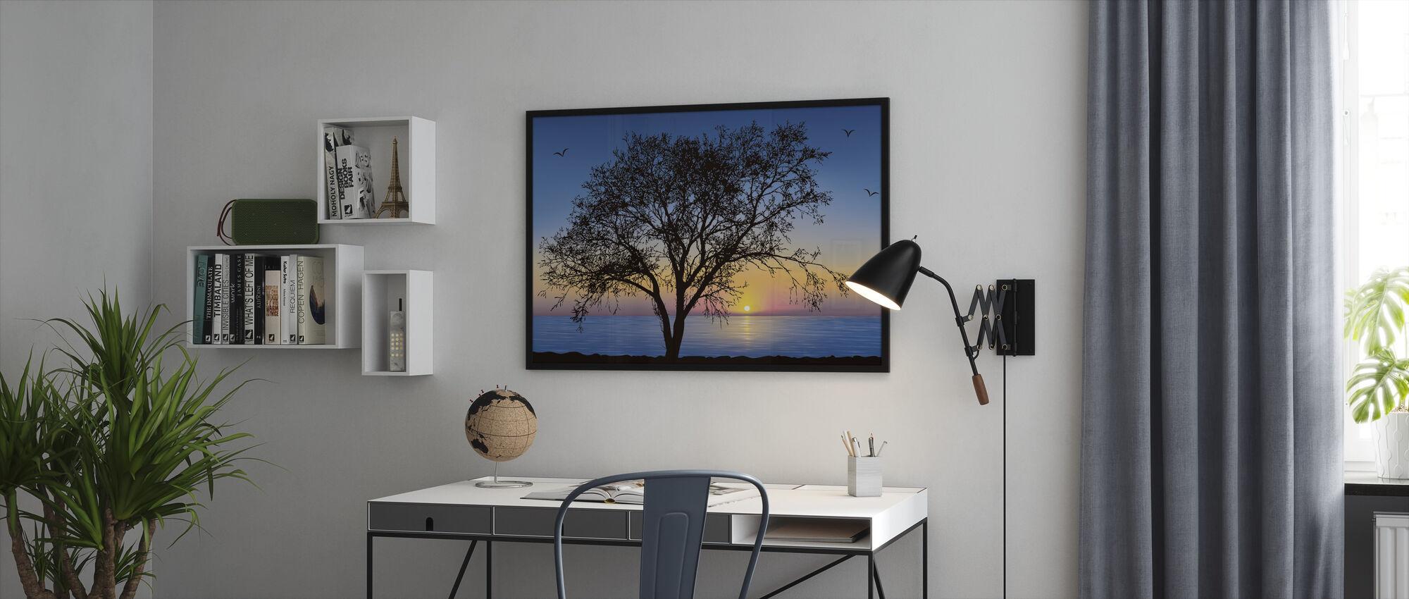 Treet Silhouette - Innrammet bilde - Kontor
