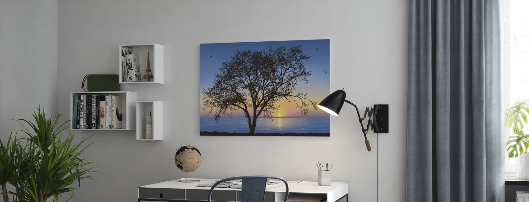 Tree Silhouette - Canvas print - Office