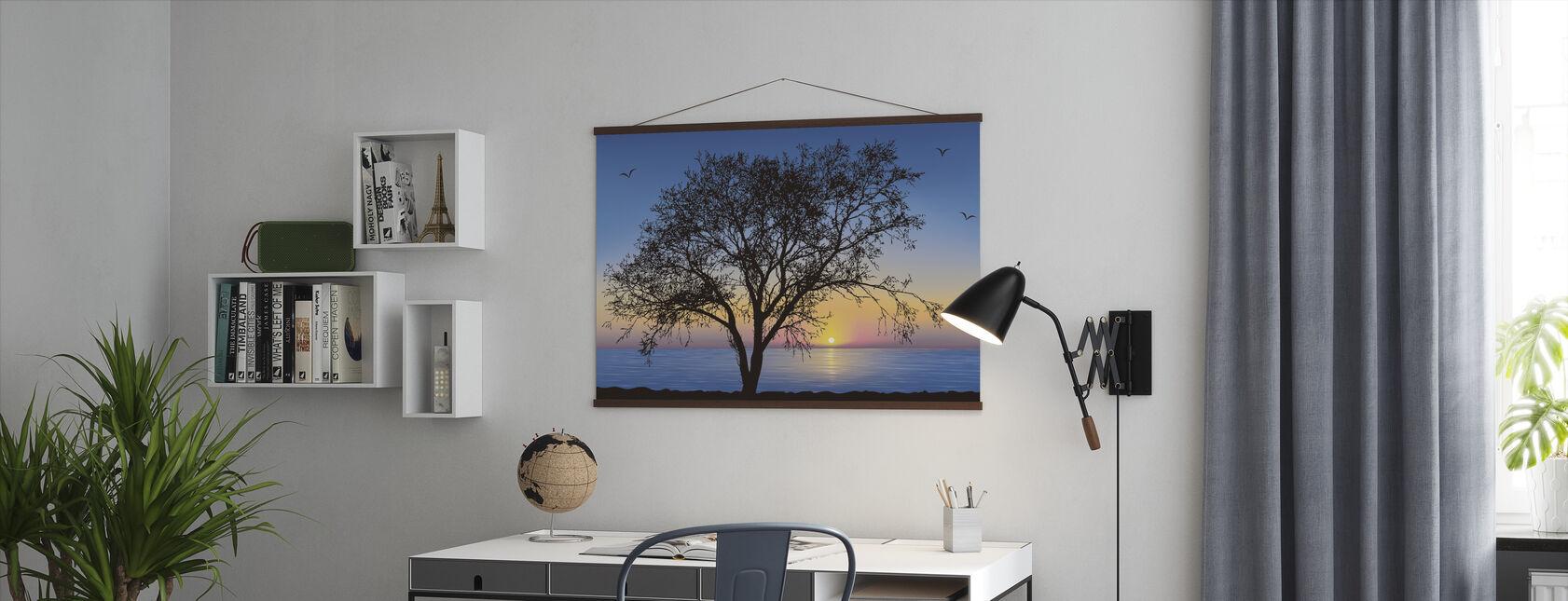 Boom Silhouet - Poster - Kantoor