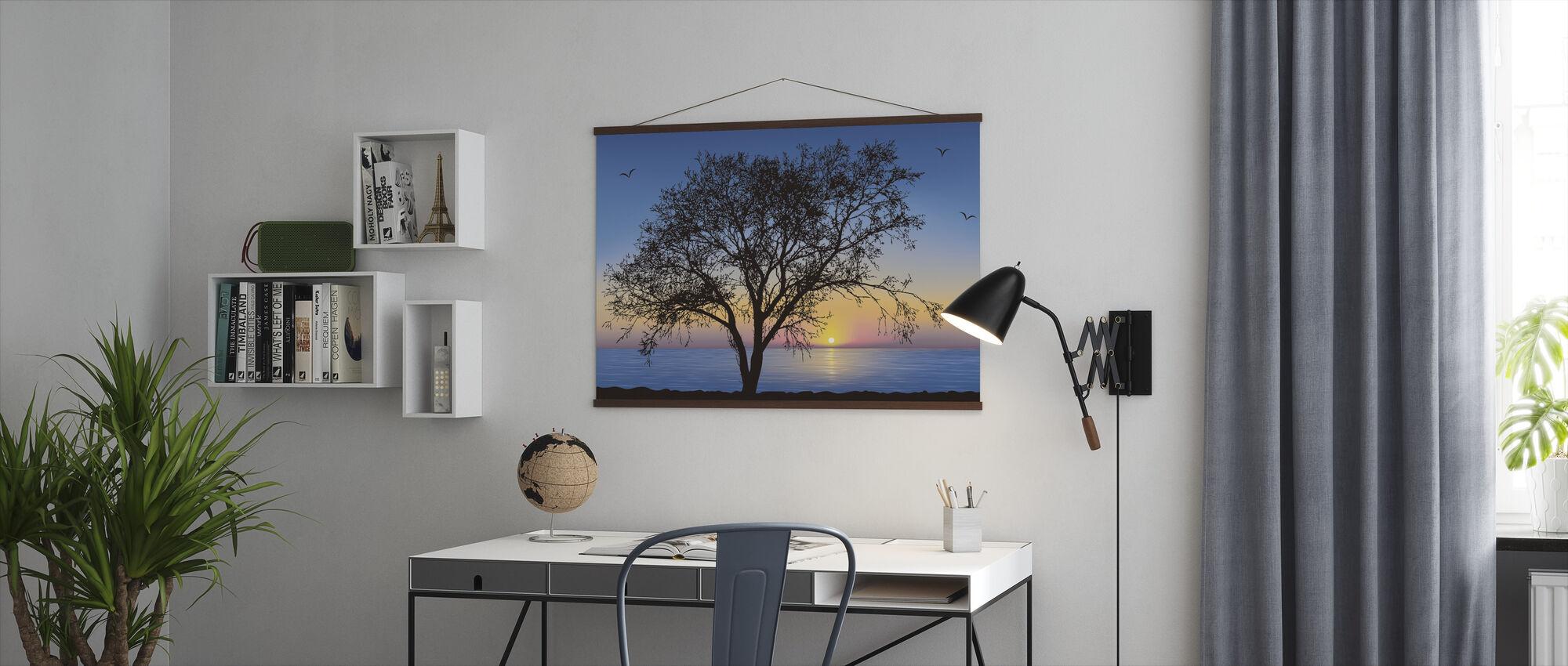 Treet Silhouette - Plakat - Kontor
