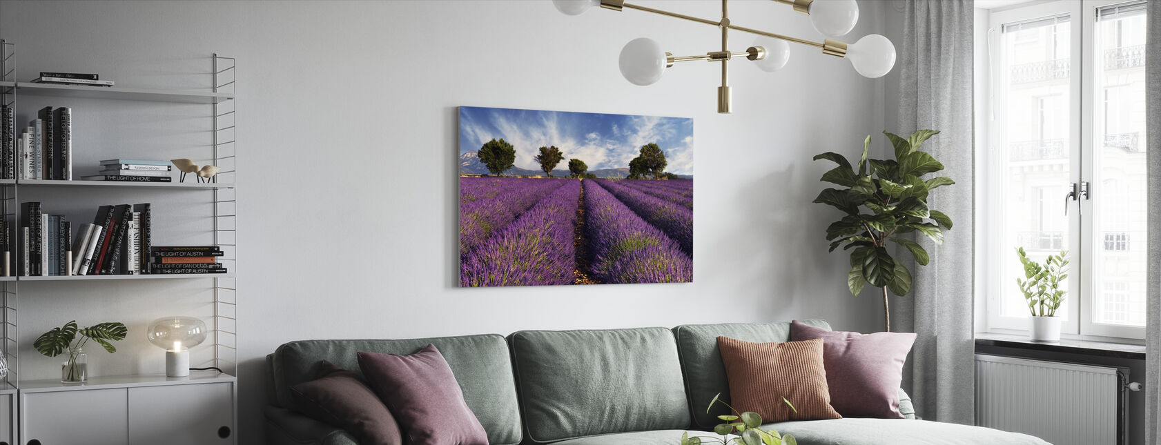Lavender Field in Provence - Canvas print - Living Room