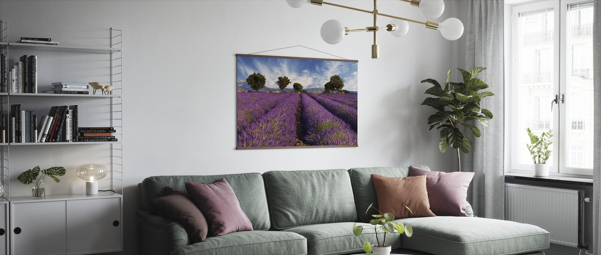 Lavender Field in Provence - Poster - Living Room