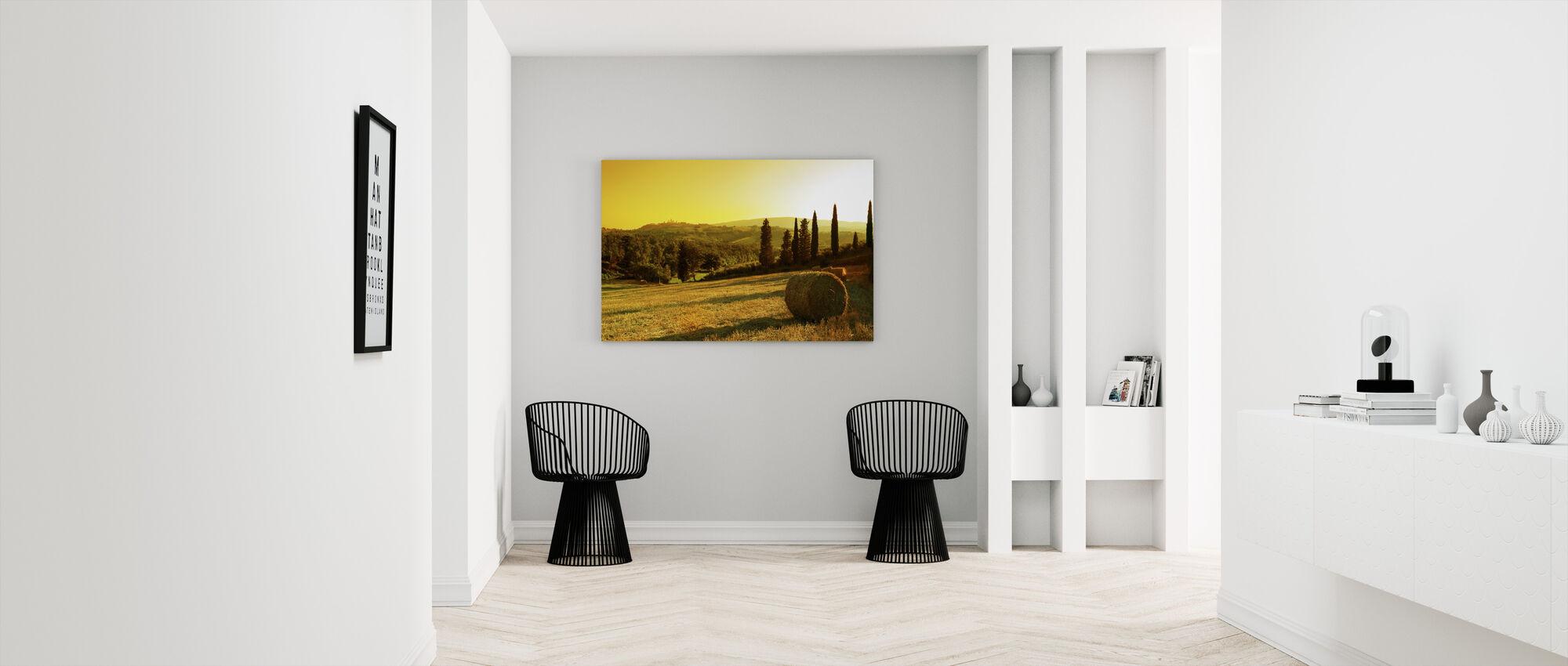 Sunset Tuscany Landscape - Canvas print - Hallway