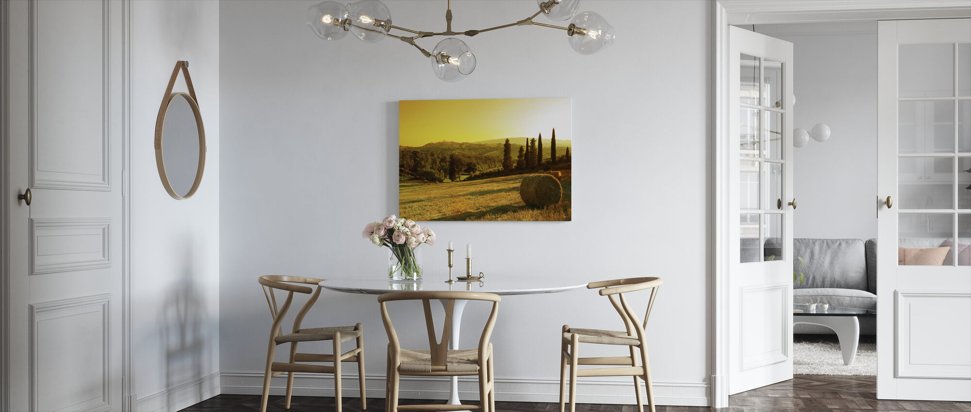 Sunset Tuscany Landscape - Canvas print - Kitchen