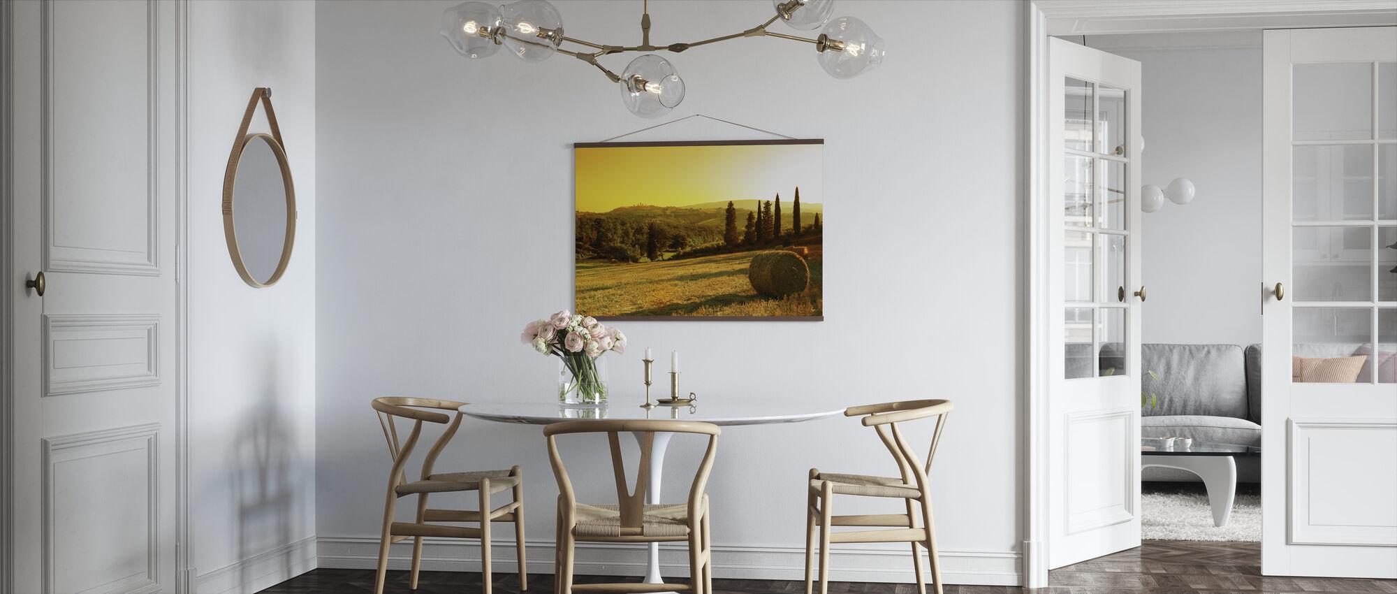 Sunset Tuscany Landscape - Poster - Kitchen