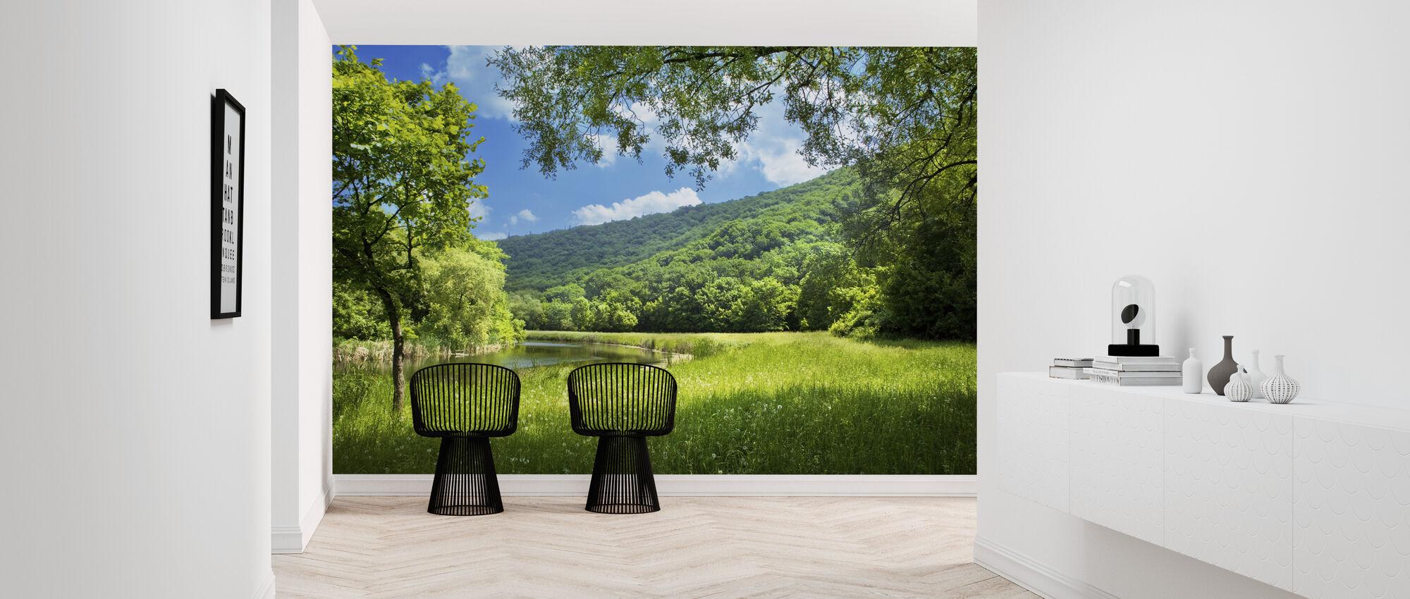 Summer Landscape with River - Wallpaper - Hallway