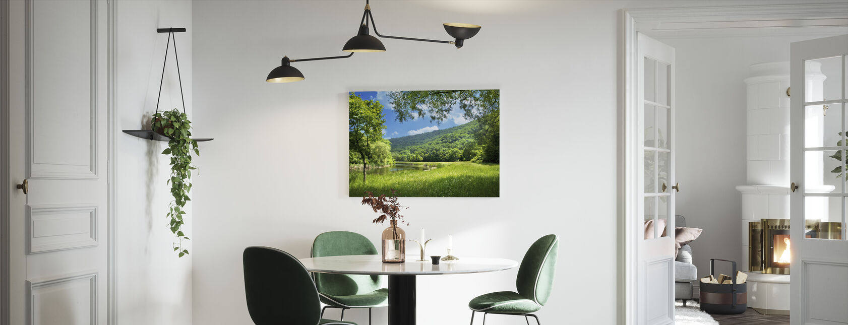 Summer Landscape with River - Canvas print - Kitchen