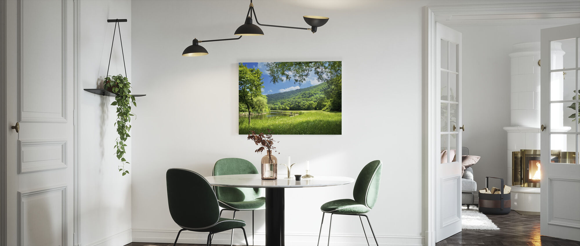 Summer Landscape with River - Canvas print - Kitchen