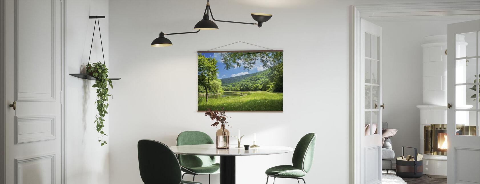Summer Landscape with River - Poster - Kitchen