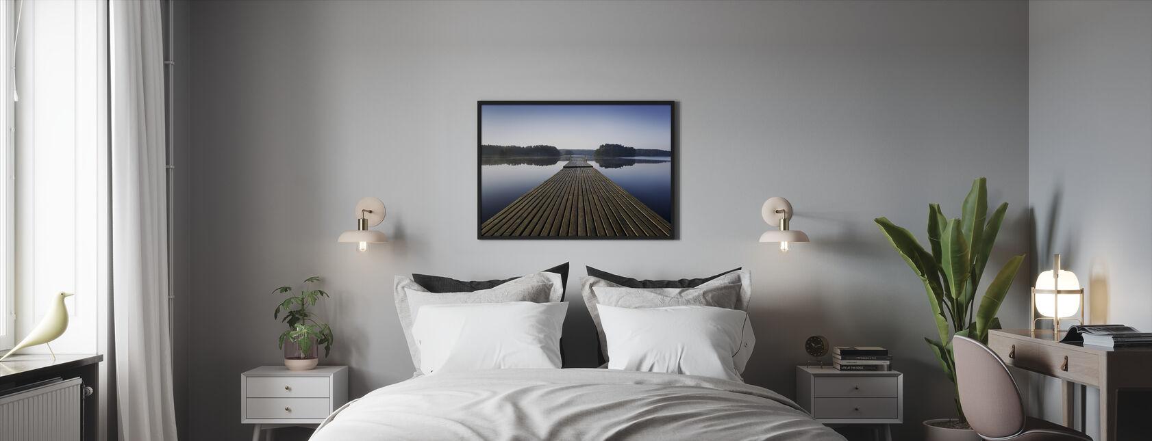 Wooden Pier at Morning - Framed print - Bedroom