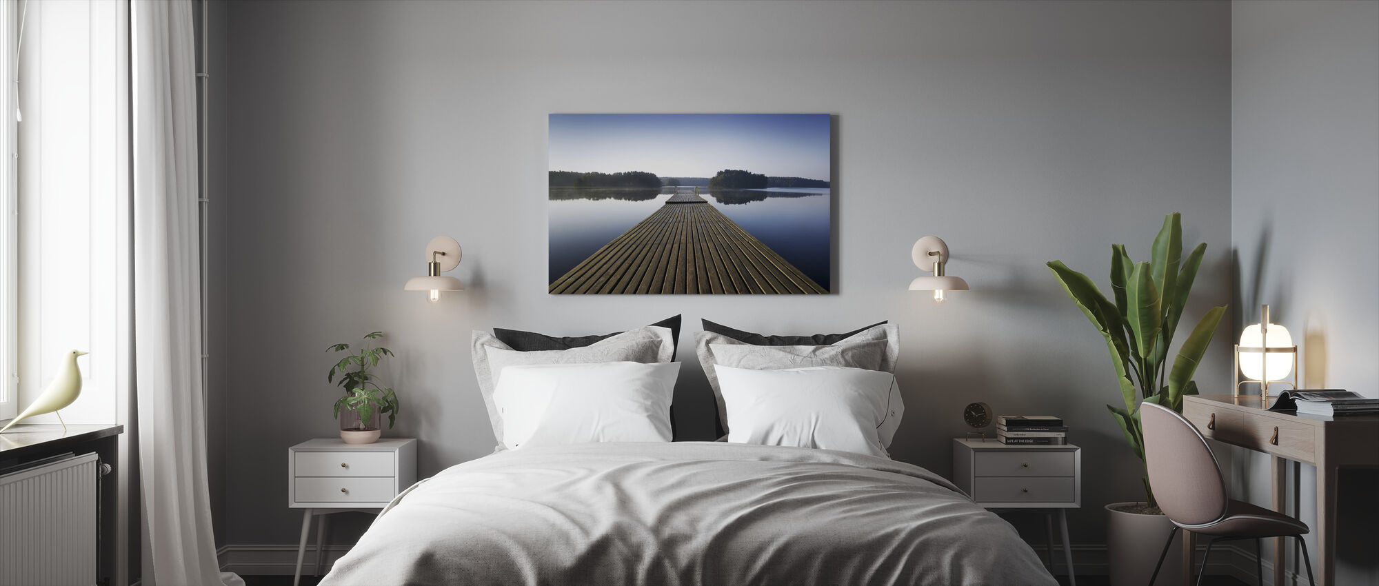 Wooden Pier at Morning - Canvas print - Bedroom