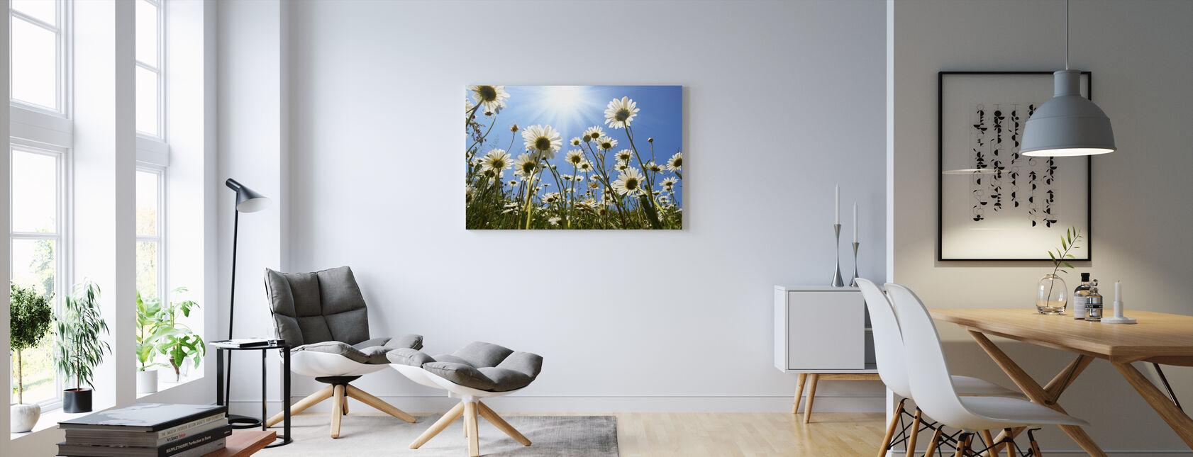 White Daisies - Canvas print - Living Room