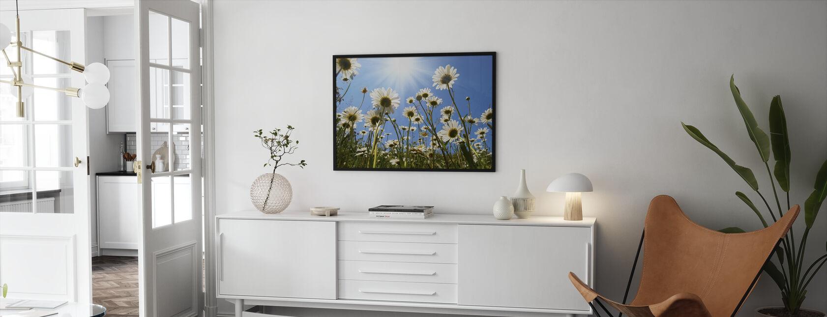 White Daisies - Framed print - Living Room