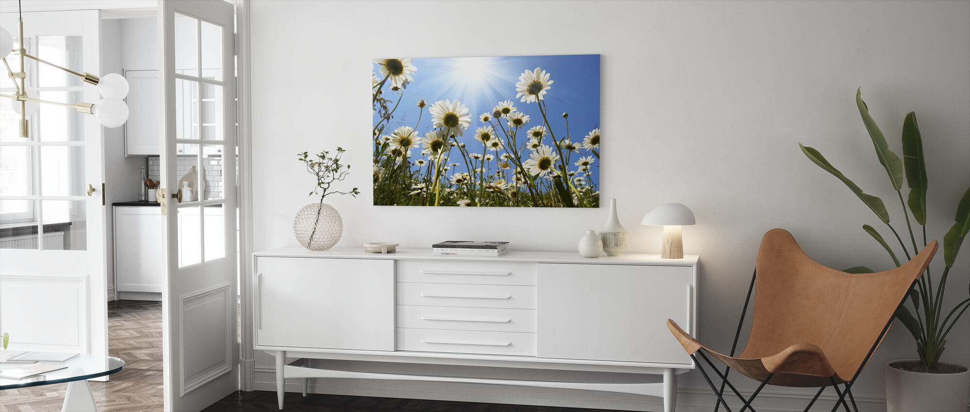 Witte madeliefjes - Canvas print - Woonkamer
