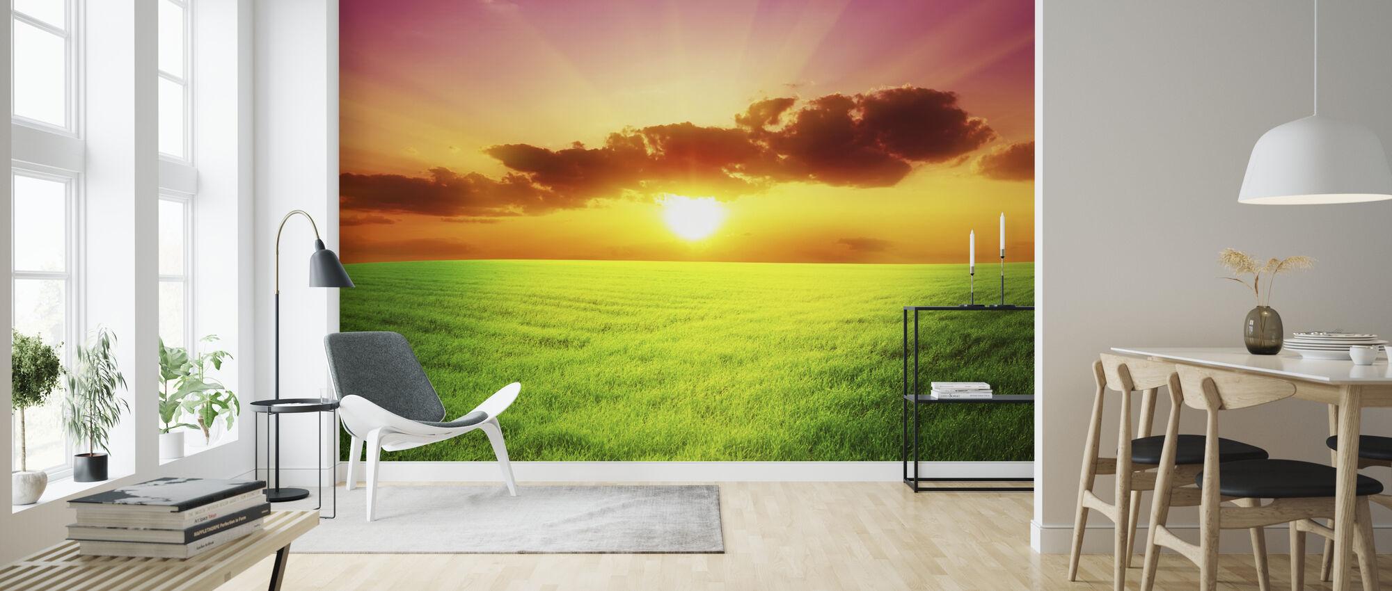 Green Field - Wallpaper - Living Room