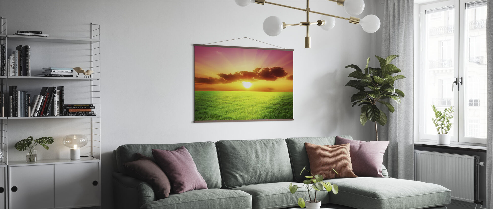 Green Field - Poster - Living Room