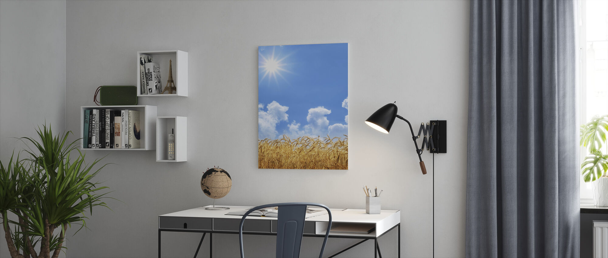 Guld Vete - Canvastavla - Kontor