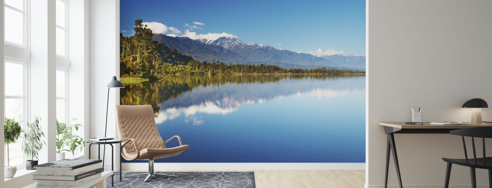 Beautiful lake, Nuova Zelanda - Carta da parati - Salotto