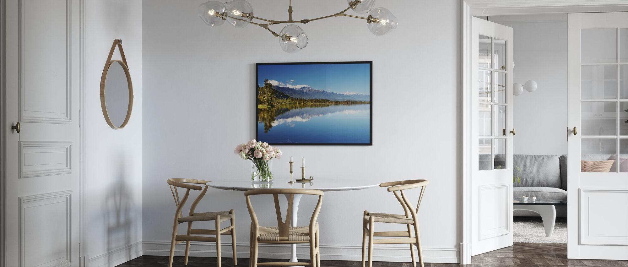 Kaunis järvi, Uusi-Seelanti - Kehystetty kuva - Keittiö