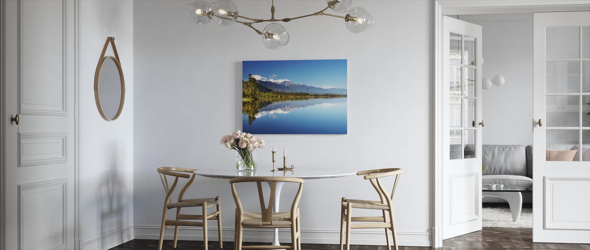 Beautiful lake, New Zealand - Canvas print - Kitchen